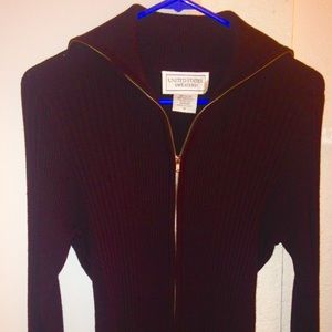 United States Sweaters Brown Zipper Sweater